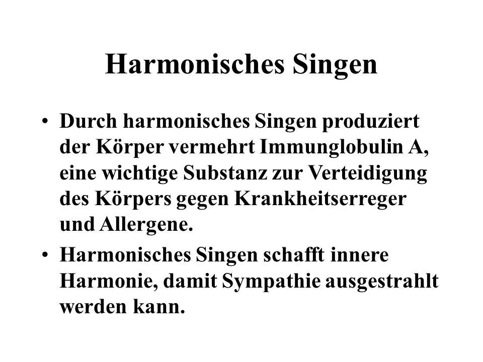 Harmonisches Singen