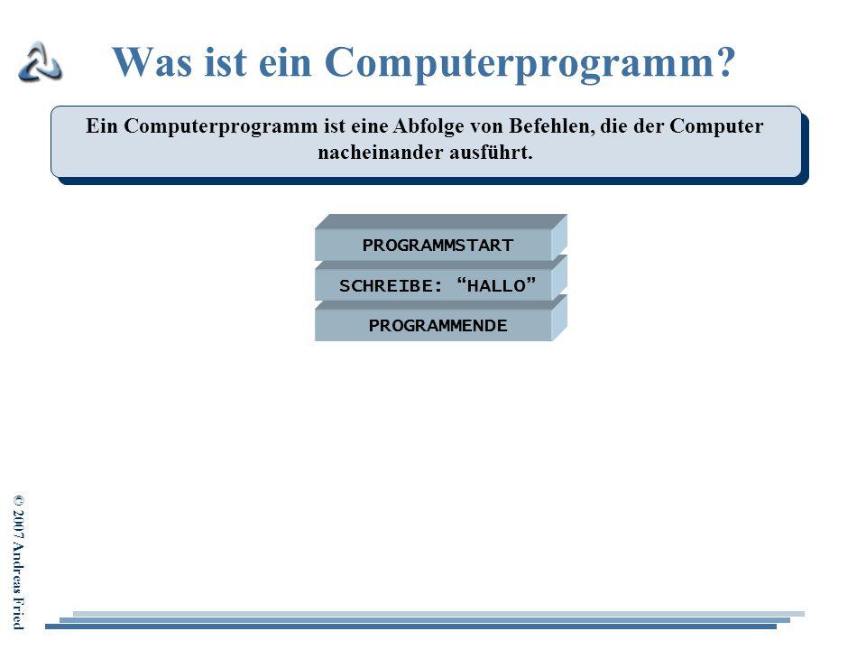 Was ist ein Computerprogramm