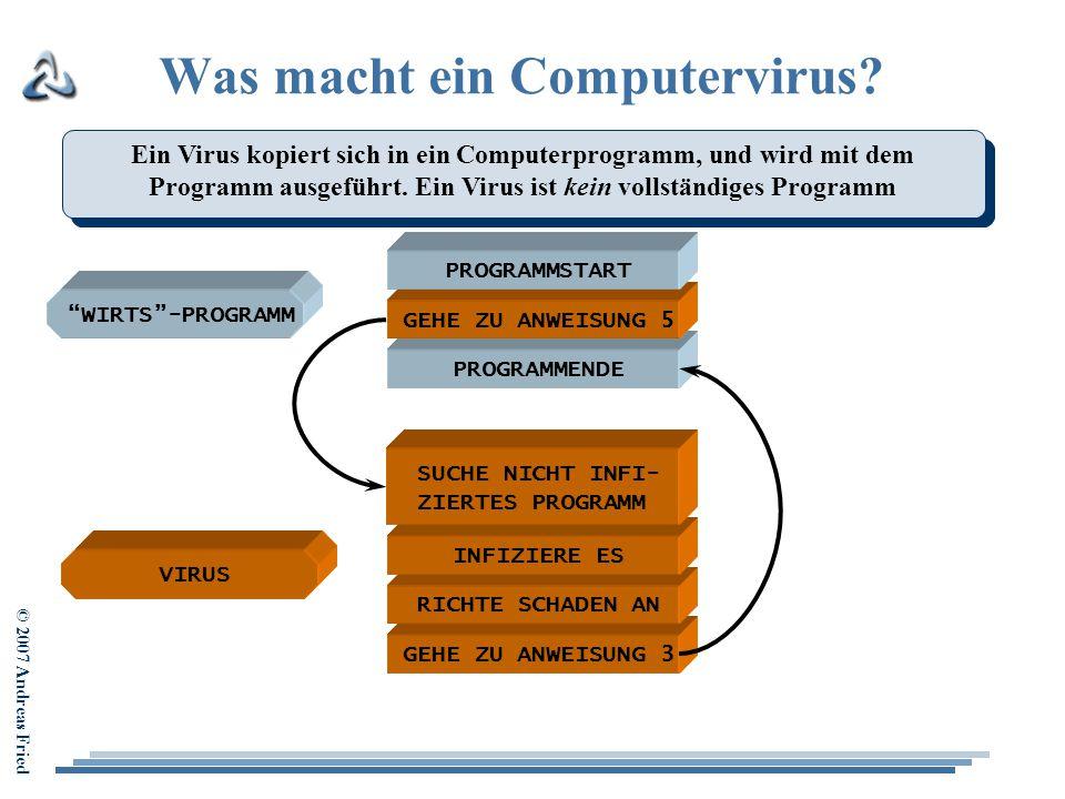 Was macht ein Computervirus