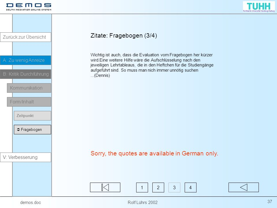 Zitate: Fragebogen (3/4)