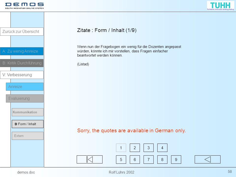 Zitate : Form / Inhalt (1/9)