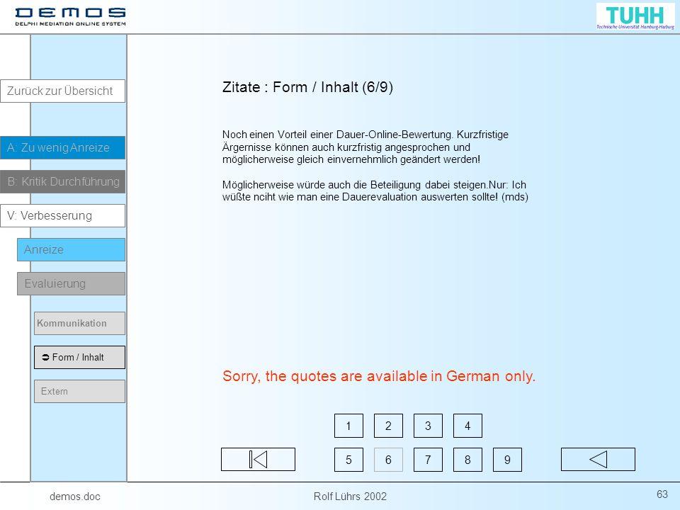 Zitate : Form / Inhalt (6/9)