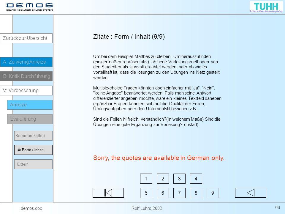 Zitate : Form / Inhalt (9/9)