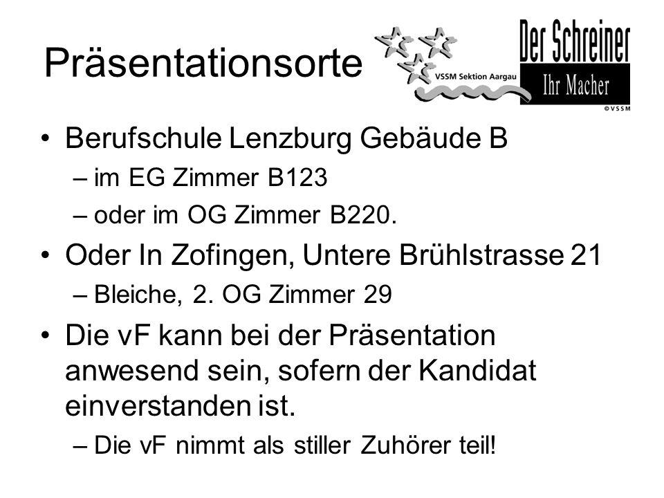 Präsentationsorte Berufschule Lenzburg Gebäude B
