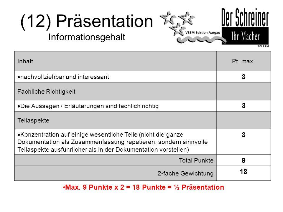 (12) Präsentation Informationsgehalt