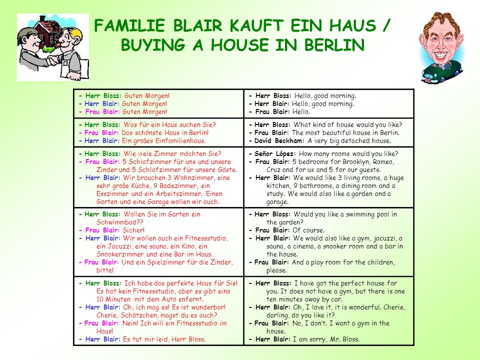FAMILIE BLAIR KAUFT EIN HAUS / BUYING A HOUSE IN BERLIN