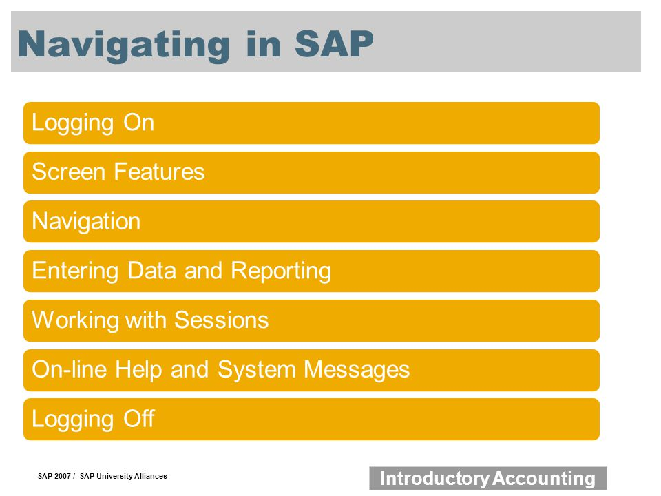 Navigating in SAP Logging On Screen Features Navigation