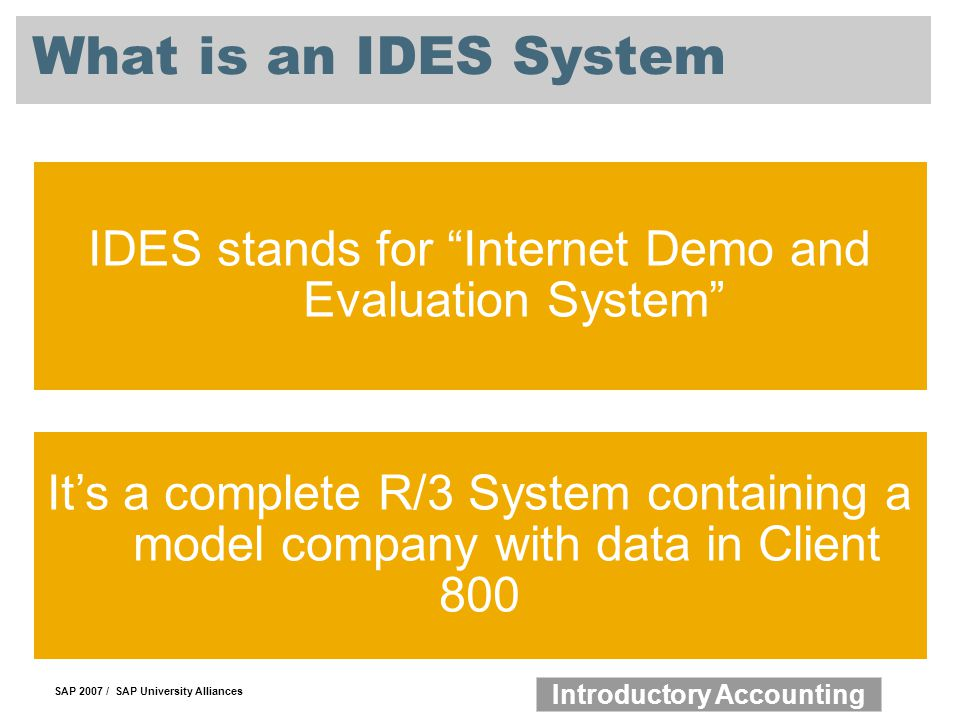 IDES stands for Internet Demo and Evaluation System