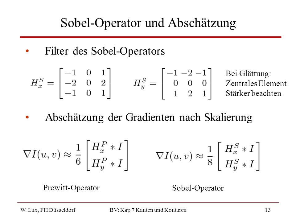 Sobel-Operator und Abschätzung