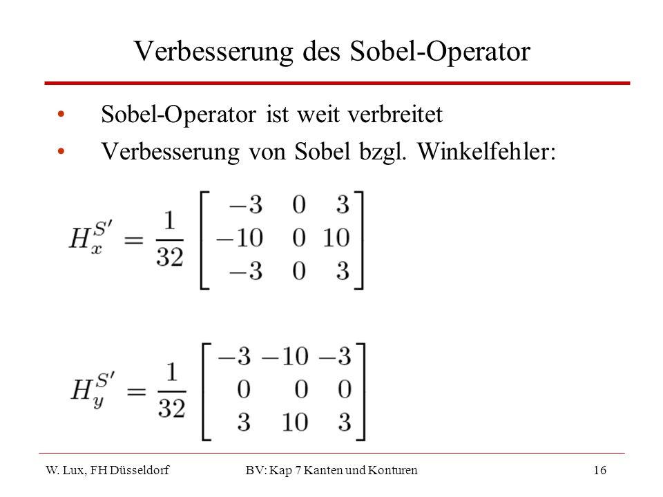 Verbesserung des Sobel-Operator