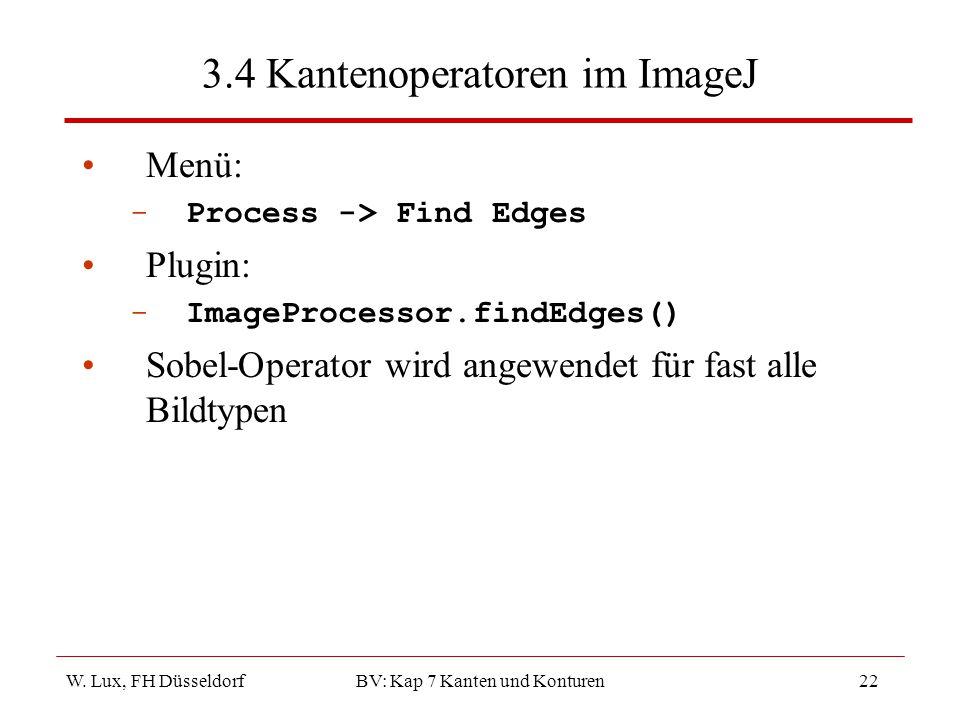 3.4 Kantenoperatoren im ImageJ