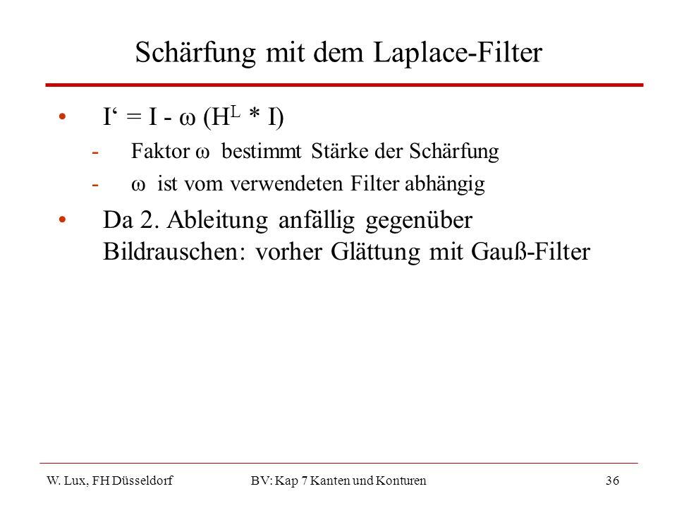Schärfung mit dem Laplace-Filter