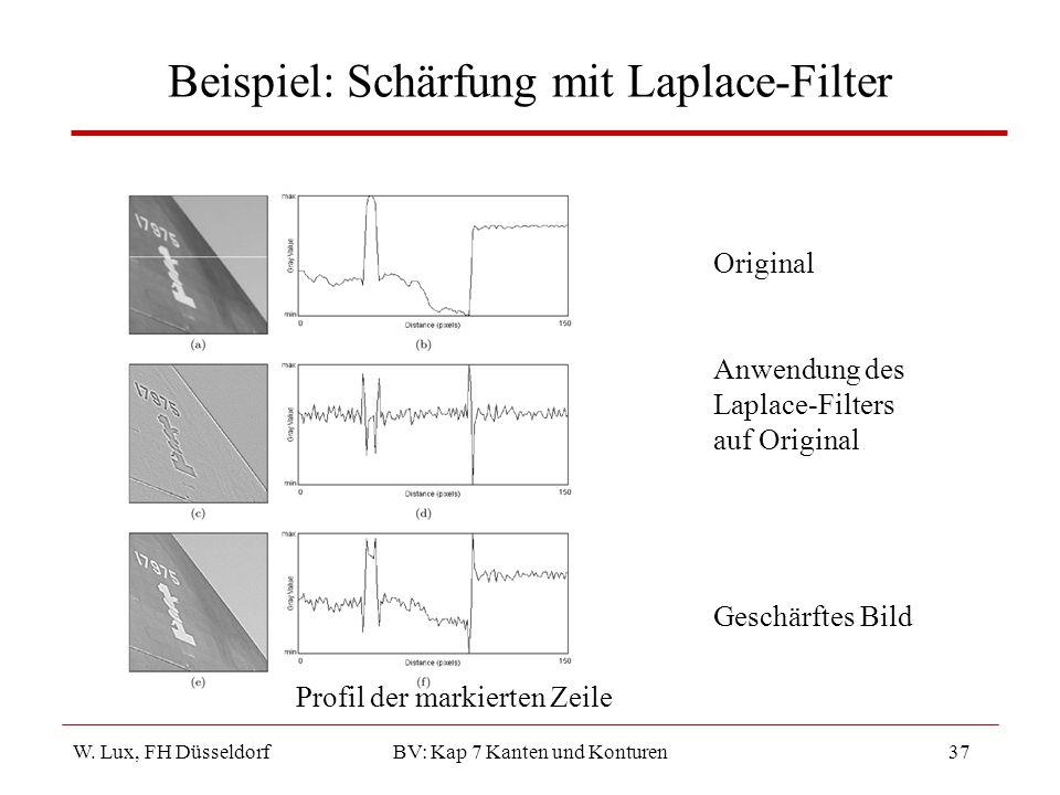 Beispiel: Schärfung mit Laplace-Filter