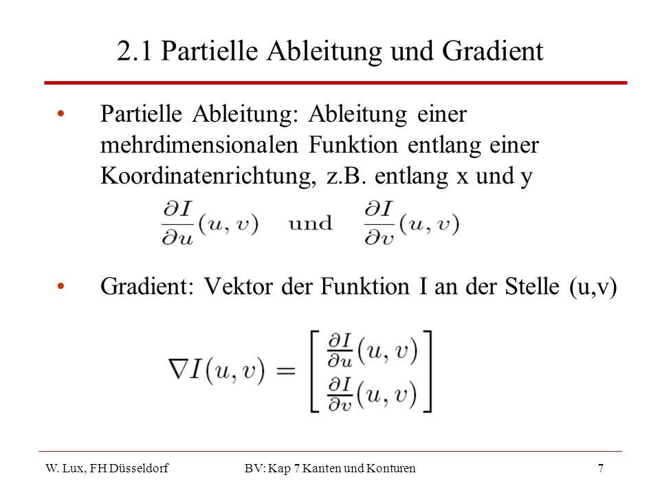 2.1 Partielle Ableitung und Gradient