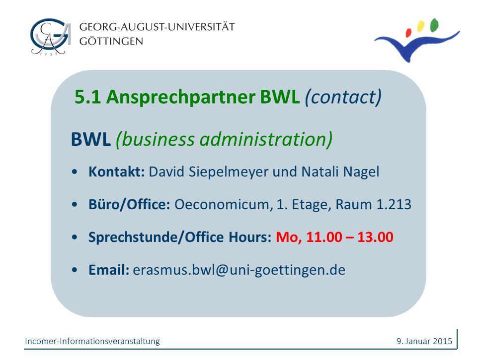 5.1 Ansprechpartner BWL (contact)