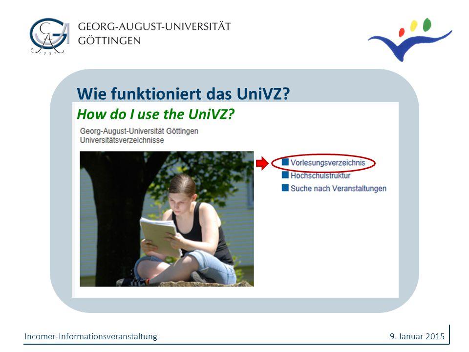 Wie funktioniert das UniVZ