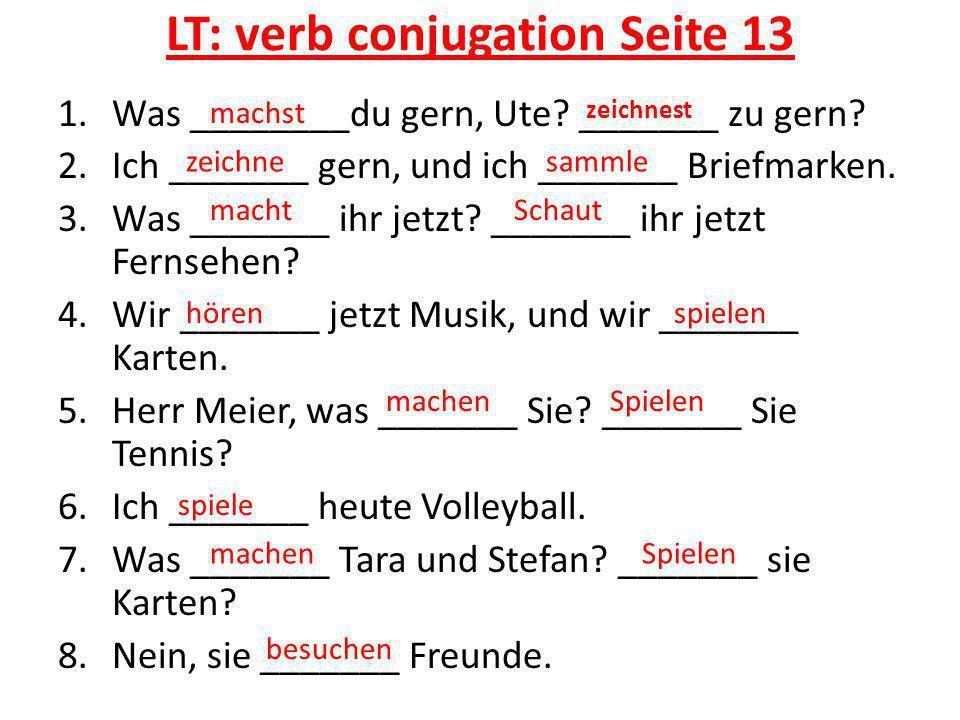 LT: verb conjugation Seite 13