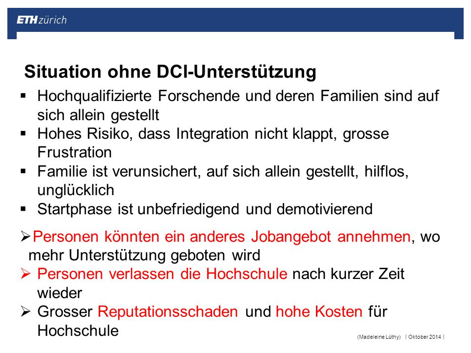 Situation ohne DCI-Unterstützung