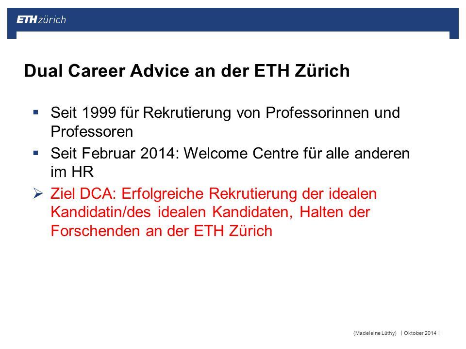 Dual Career Advice an der ETH Zürich