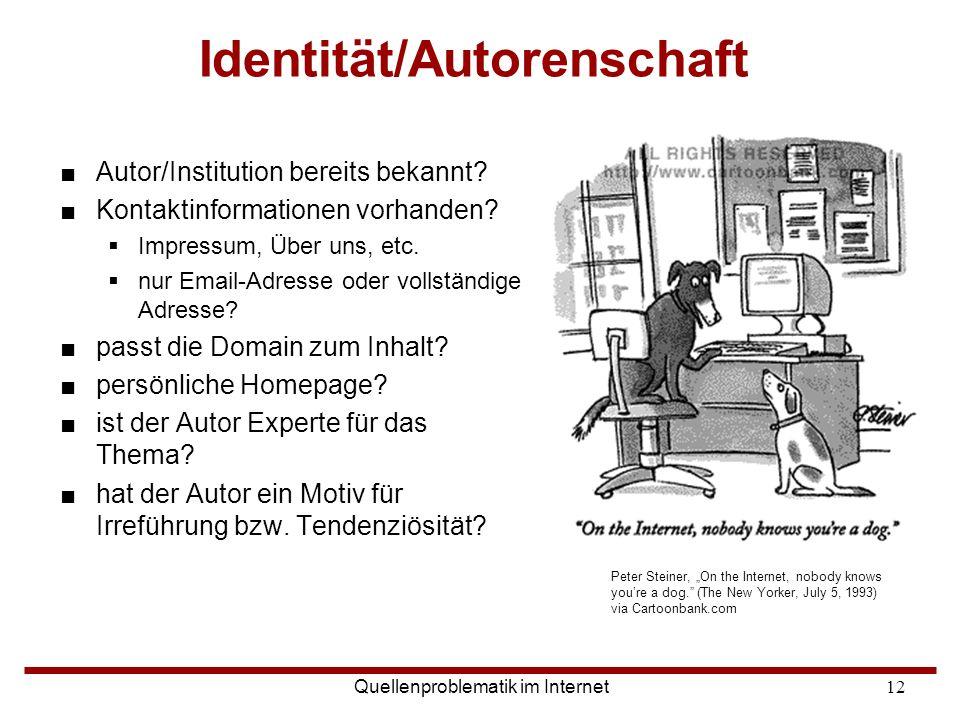 Identität/Autorenschaft