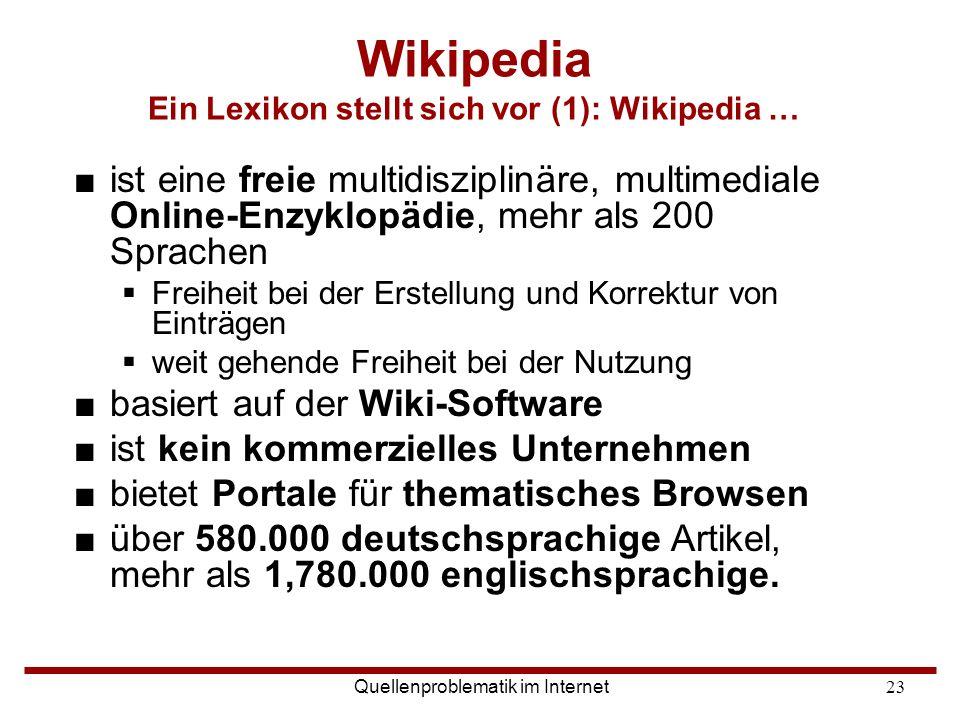 Wikipedia Ein Lexikon stellt sich vor (1): Wikipedia …