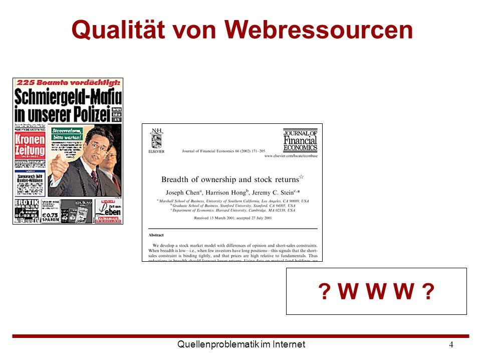 Qualität von Webressourcen