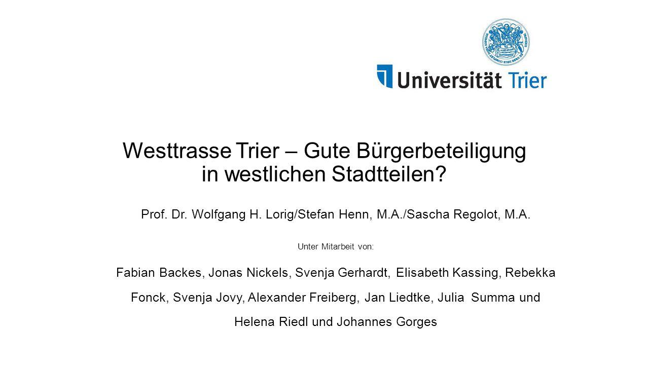 Westtrasse Trier – Gute Bürgerbeteiligung in westlichen Stadtteilen