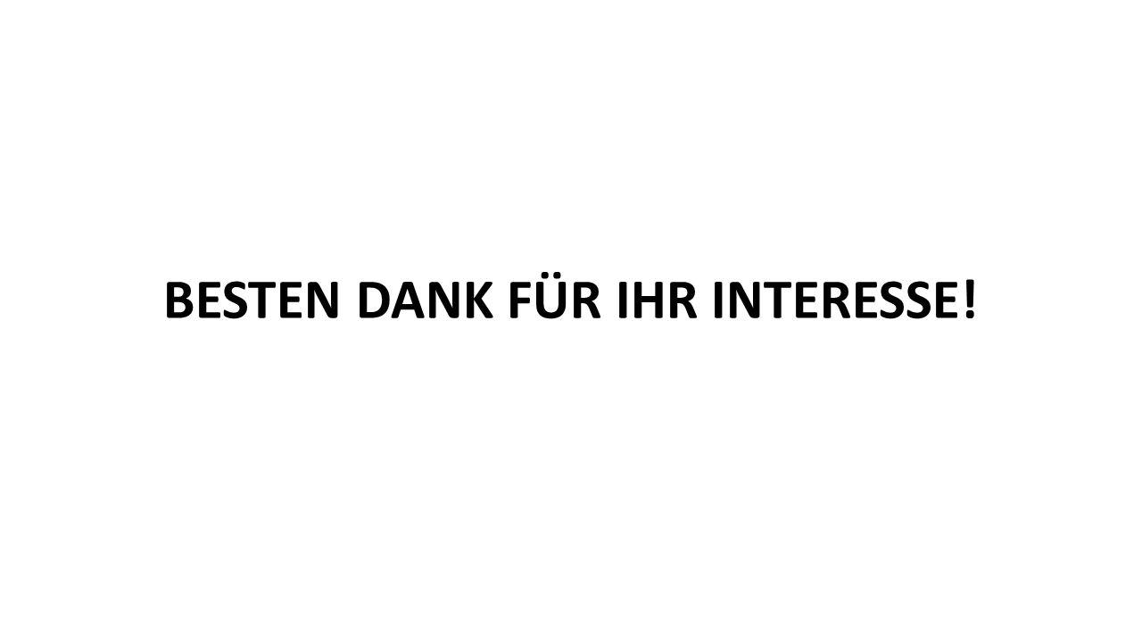 BESTEN DANK FÜR IHR INTERESSE!