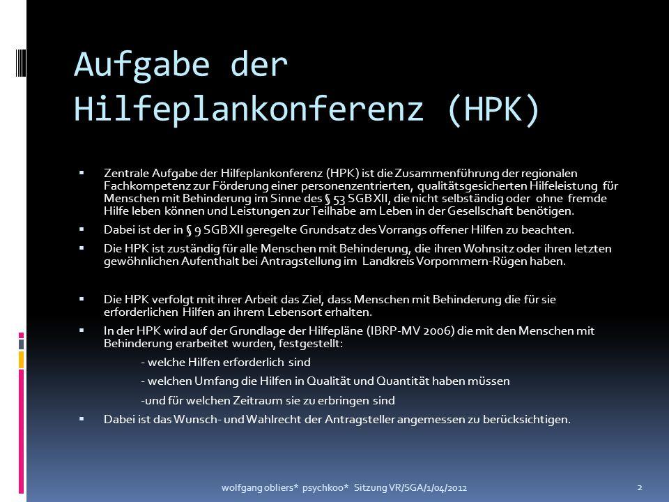 Aufgabe der Hilfeplankonferenz (HPK)