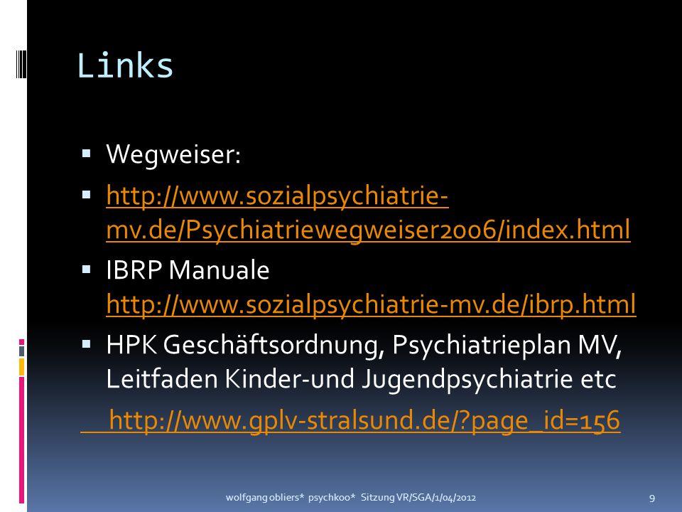 Links Wegweiser: http://www.sozialpsychiatrie- mv.de/Psychiatriewegweiser2006/index.html.