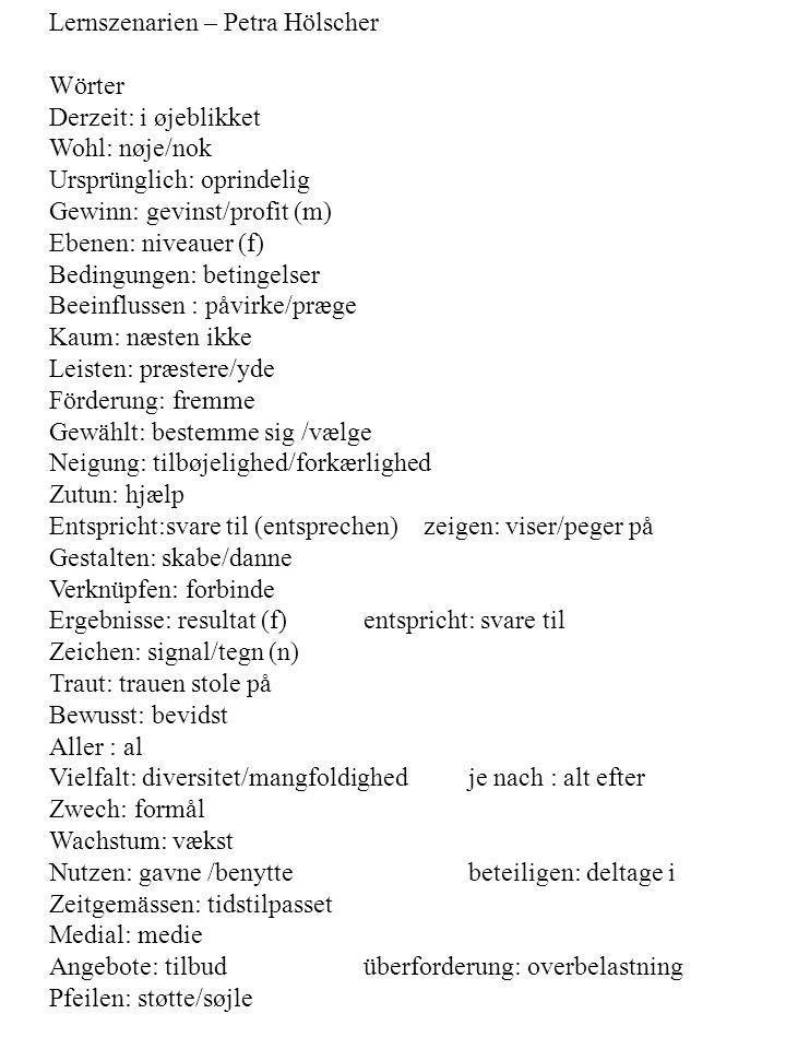 Lernszenarien – Petra Hölscher
