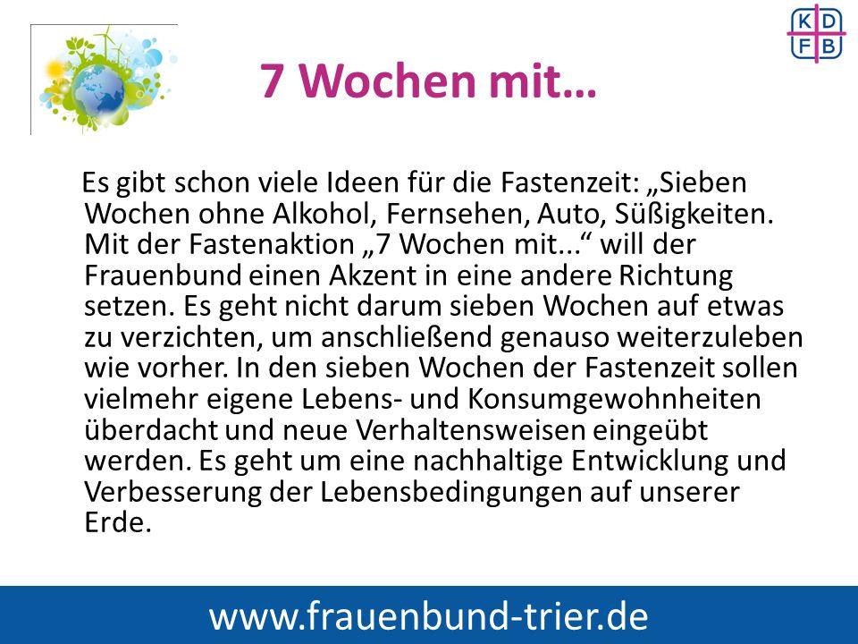 7 Wochen mit… www.frauenbund-trier.de