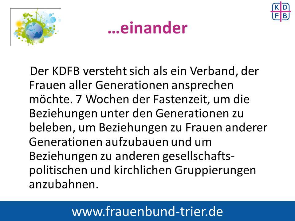 …einander www.frauenbund-trier.de
