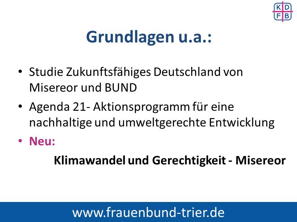 Grundlagen u.a.: www.frauenbund-trier.de