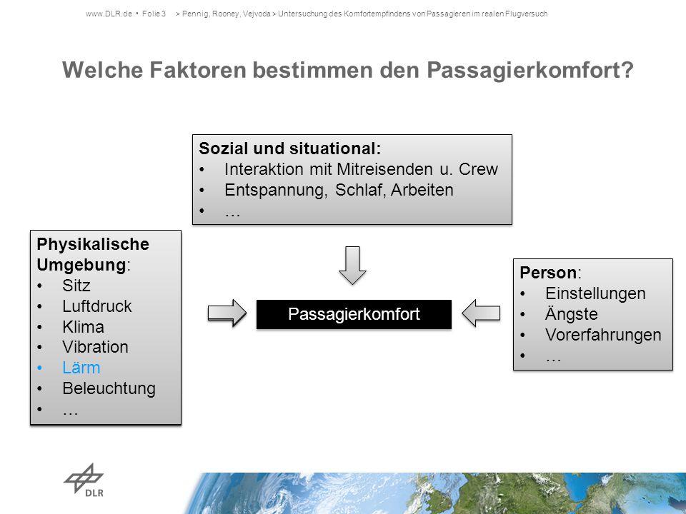 Welche Faktoren bestimmen den Passagierkomfort