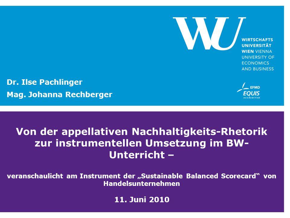 Dr. Ilse Pachlinger Mag. Johanna Rechberger.