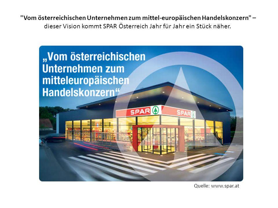 Vom österreichischen Unternehmen zum mittel-europäischen Handelskonzern – dieser Vision kommt SPAR Österreich Jahr für Jahr ein Stück näher.