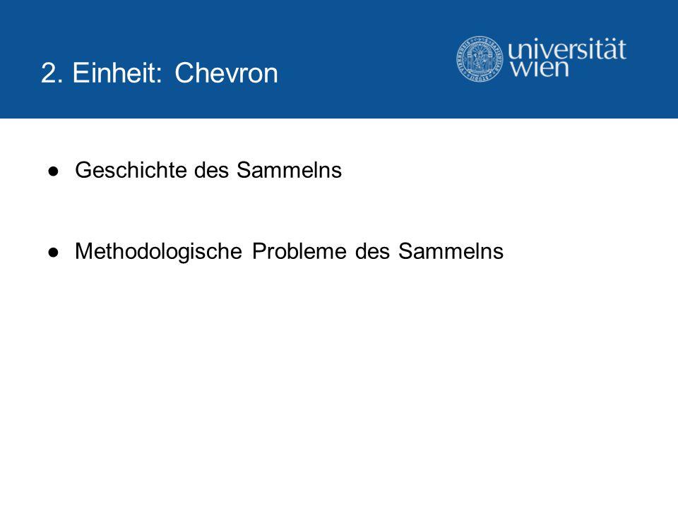 Geschichte des Sammelns Methodologische Probleme des Sammelns