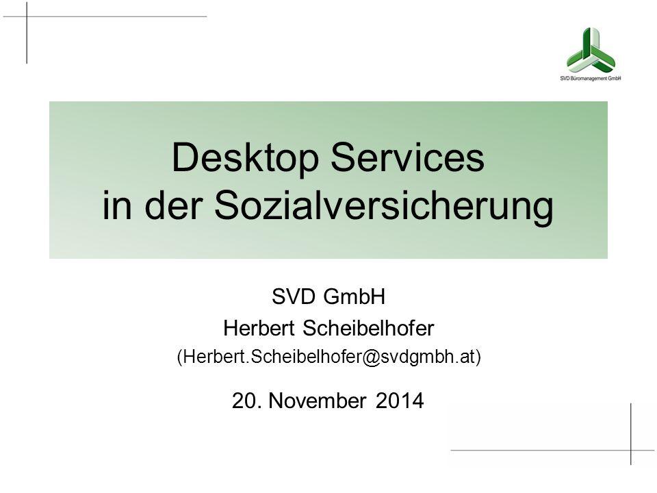 Desktop Services in der Sozialversicherung