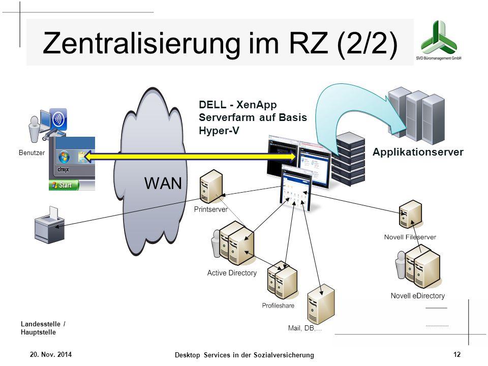 Zentralisierung im RZ (2/2)