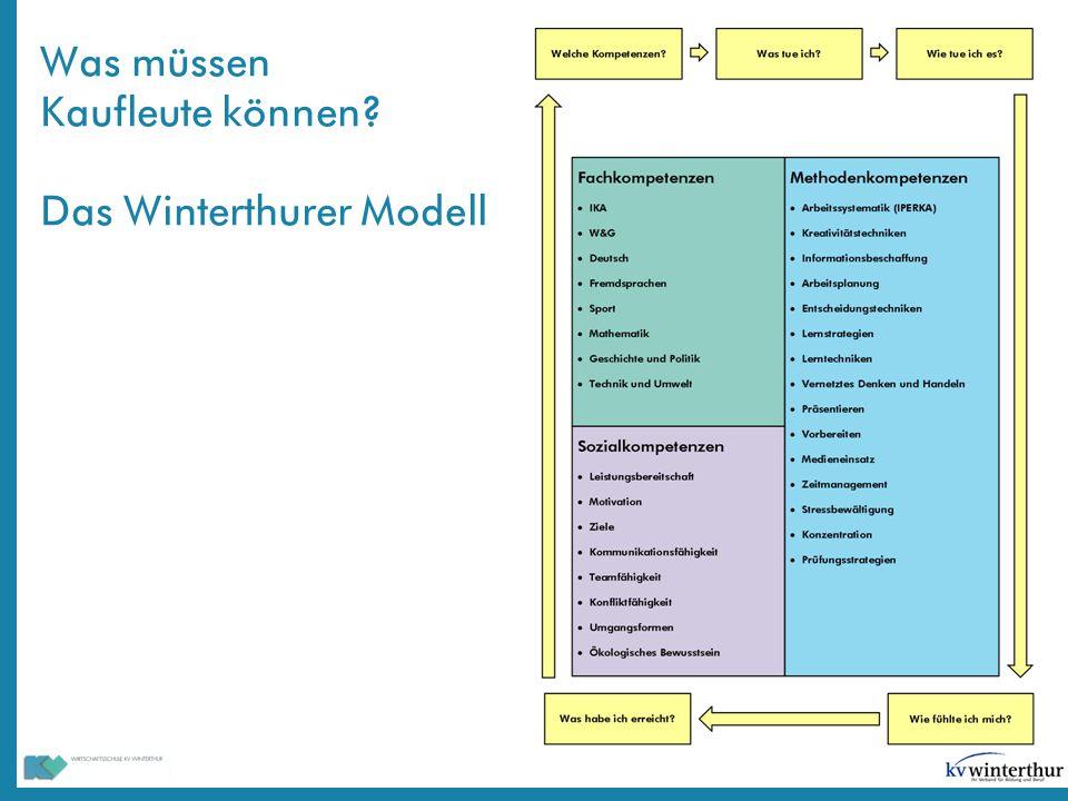 Was müssen Kaufleute können Das Winterthurer Modell