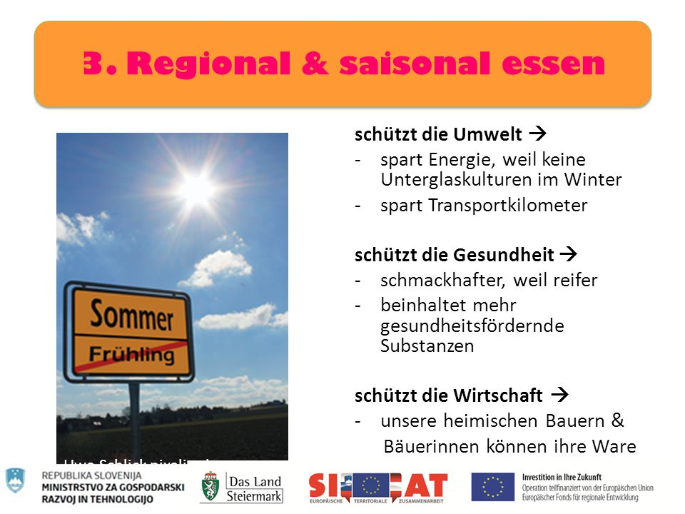 3. Regional & saisonal essen