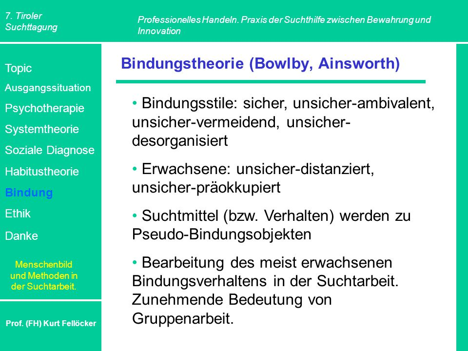 Bindungstheorie (Bowlby, Ainsworth)