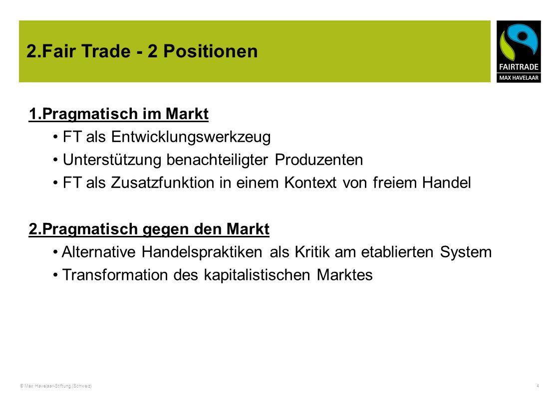 2.Fair Trade - 2 Positionen