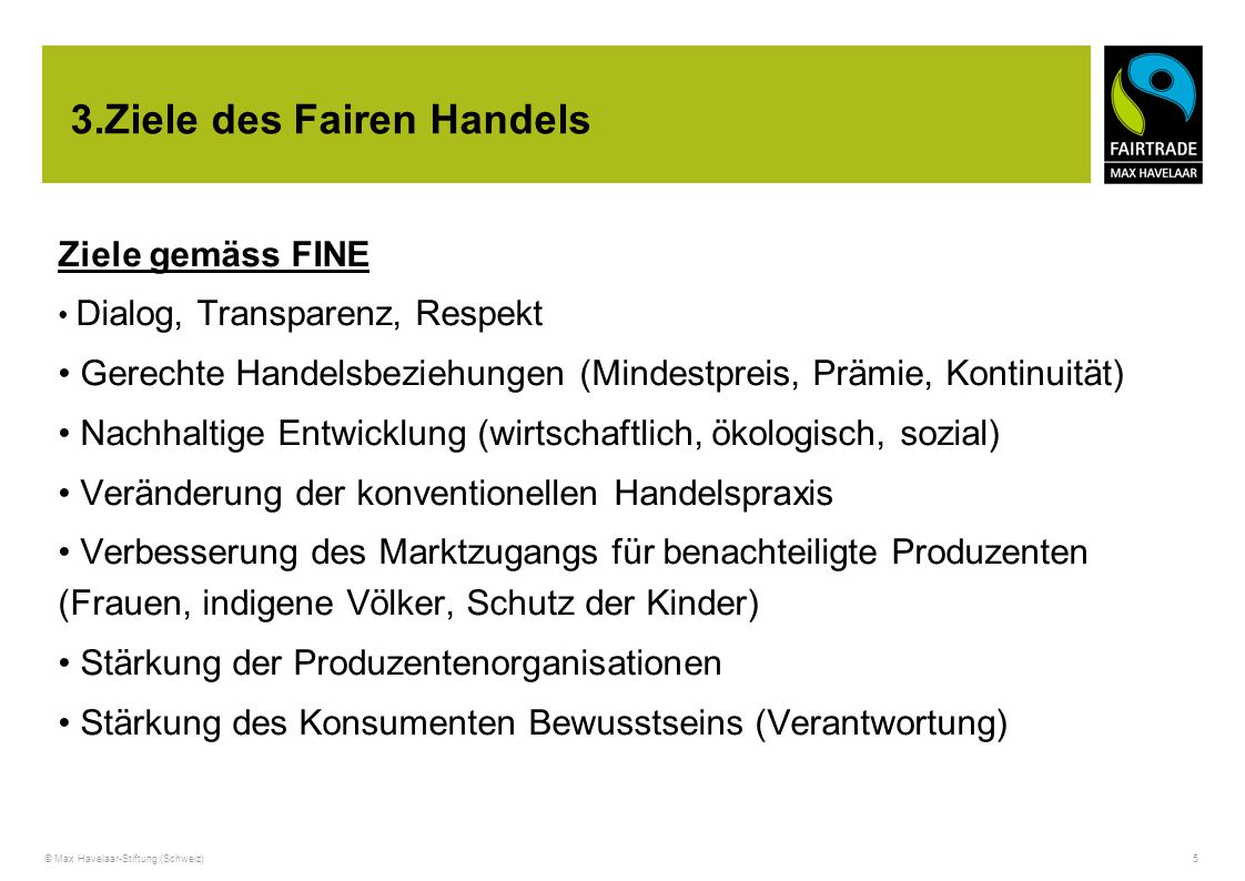 3.Ziele des Fairen Handels