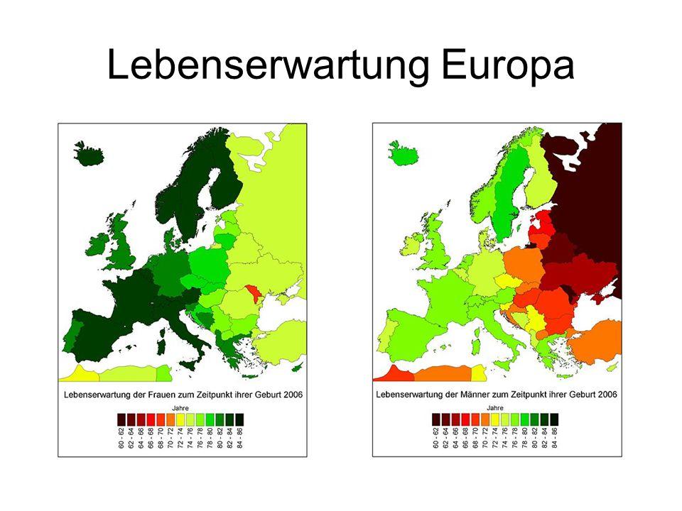 Lebenserwartung Europa