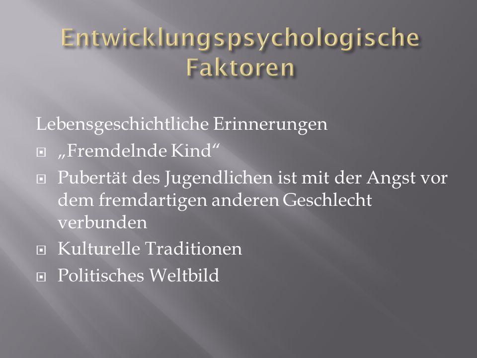Entwicklungspsychologische Faktoren