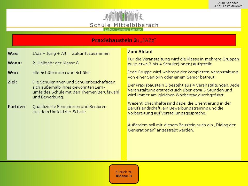 """Praxisbaustein 3: """"JAZz"""