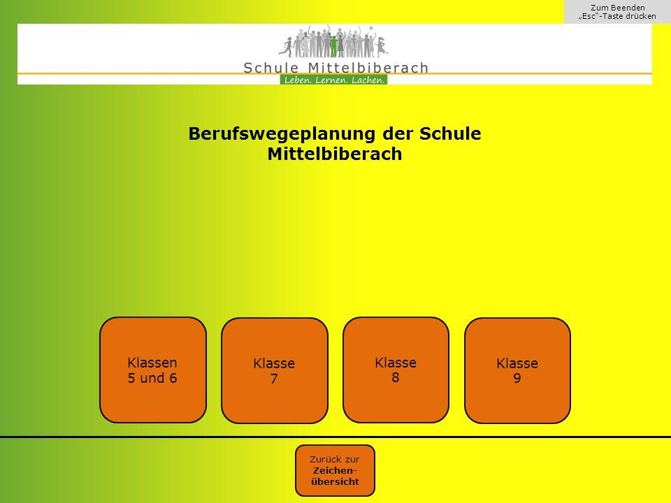 Berufswegeplanung der Schule Mittelbiberach