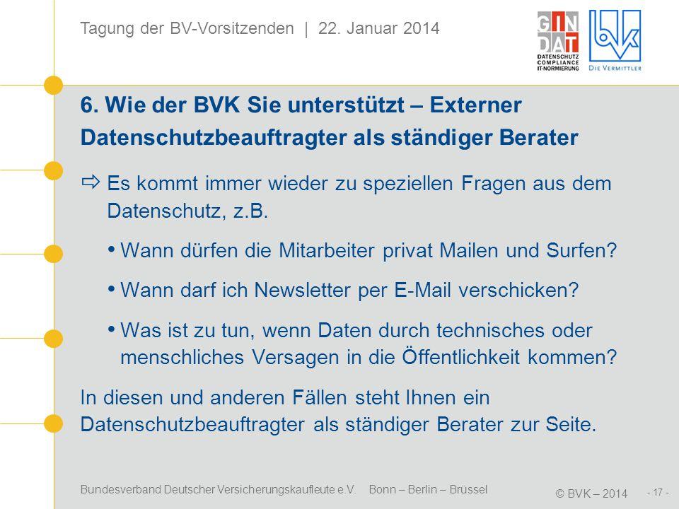 6. Wie der BVK Sie unterstützt – Externer Datenschutzbeauftragter als ständiger Berater